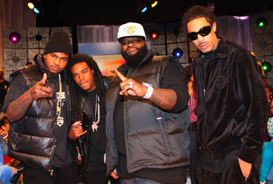 Rick Ross and Triple C's // BET's 106 & Park - October 27th 2009