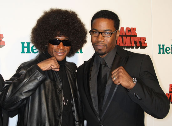 "Tommy Davidson & Michael Jai White // Premiere of ""Black Dynamite"" in Hollywood"