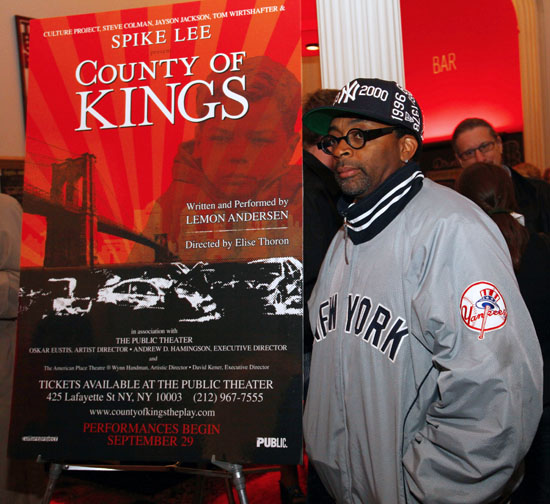 "Spike Lee // Opening night of ""County of Kings"" in New York City"