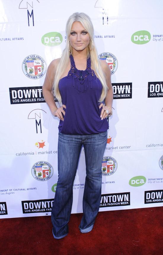 Brooke Hogan // Downtown LA FAshion Week fashion show for Alakazia (Backstage)