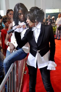 Frankie on the Red Carpet of the 2009 BET Hip-Hop Awards in Atlanta