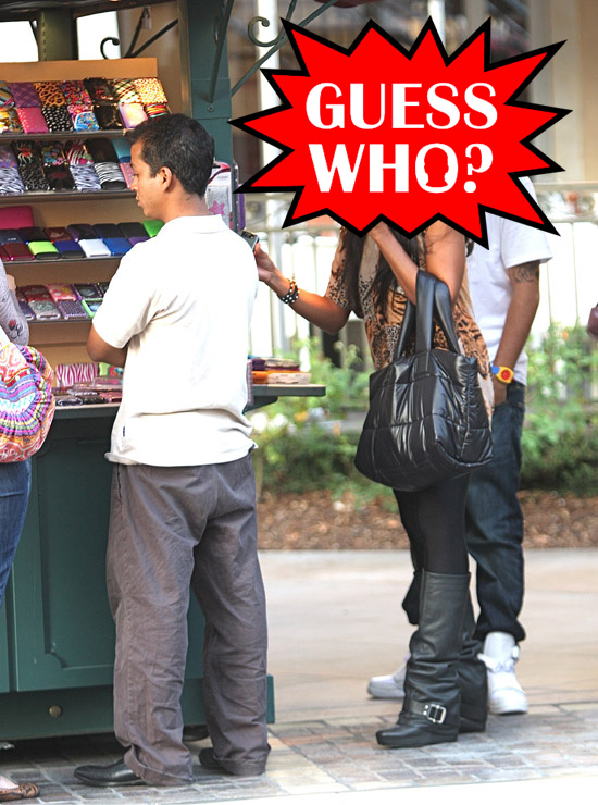 Guess Who?!: Out Shopping in Los Angeles With Her Boyfriend