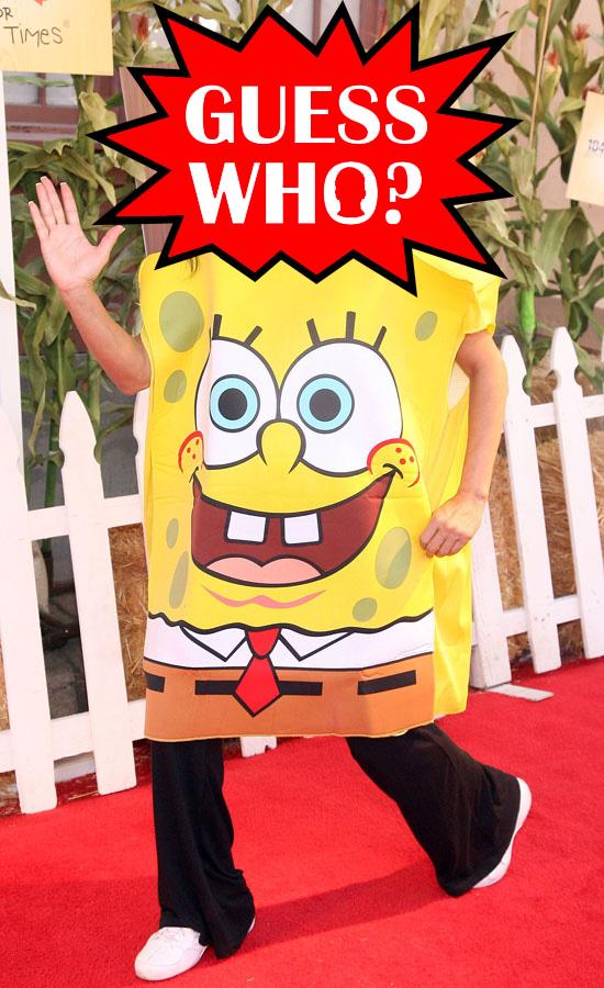 Guess Who?!: Wearing a Spongebob Squarepants Costume at Ronald McDonald Event