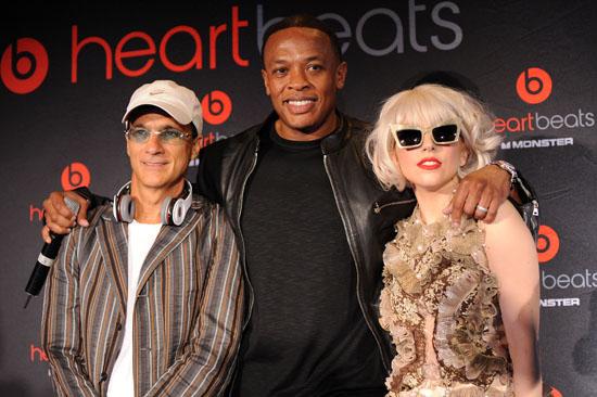 "Jimmy Lovine, Dr. Dre and Lady Gaga // ""Heartbeats by Lady Gaga"" U.S. Press Conference"