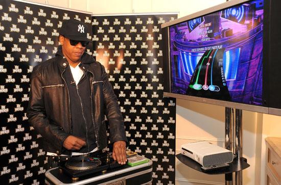 Jay-Z // DJ Hero Launch in New York City
