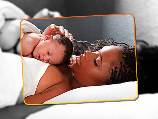 Jennifer Hudson and her newborn son David Daniel Otunga Jr.