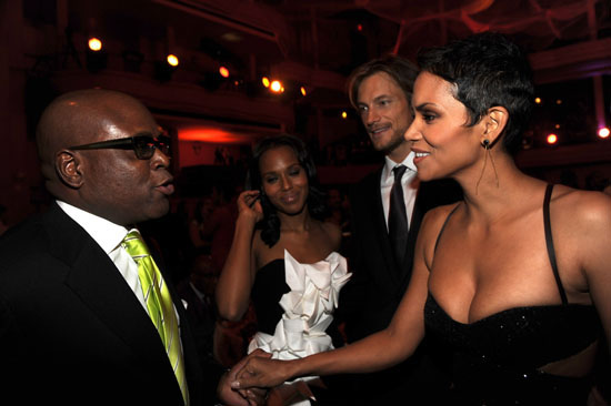 LA Reid, Kerry Washington, Gabriel Aubry and Halle Berry // Keep A Child Alive Foundation's 6th Annual Black Ball