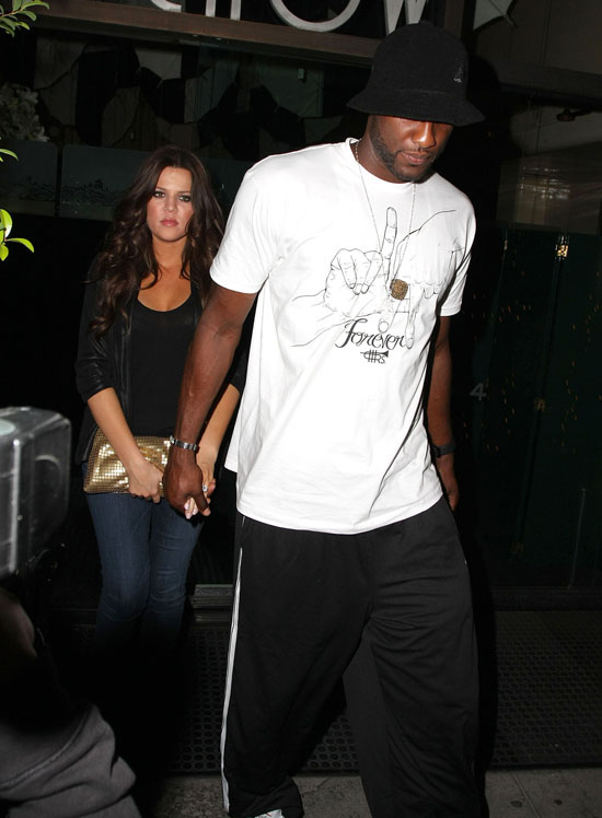 Khloe Kardashian and Lamar Odom leaving Mr. Chow restaurant in Los Angeles (October 1st 2009)