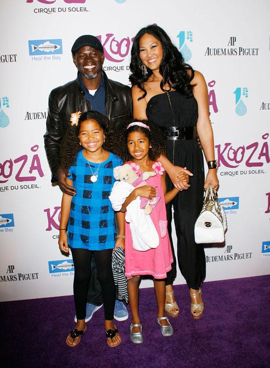 "Kimora Lee, Djimon Hounsou, Ming Lee and Aoki Lee // Opening night gala for Cirque de Soleil's ""Kooza"""