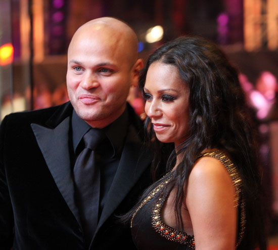 "Mel B & Stephen Belafonte at the UK premiere of Michael Jackson's ""This Is It"" in London"