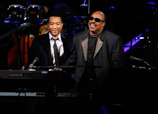 John Legend and Stevie Wonder // 25th Anniversary Rock & Roll Hall of Fame Concert
