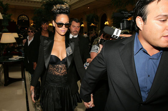Rihanna // Spring/Summer 2010 Balmain Ready To Wear Fashion Show (Paris Fashion Week 2009)
