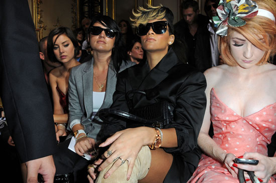 Rihanna and Nicola Roberts (from Girls Aloud) // Vivienne Westwood Pret a Porter Fashion Show (Paris Womenswear Fashion Week 2009)