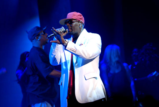 R. Kelly performs in concert at Madison Square Garden in New York City