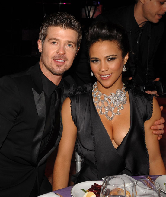 pictures of robin thicke and paula patton baby. Ramp;B crooner Robin Thicke had