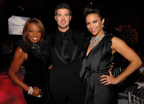 Star Jones, Robin Thicke and Paula Patton // 2009 Angel Ball in New York City