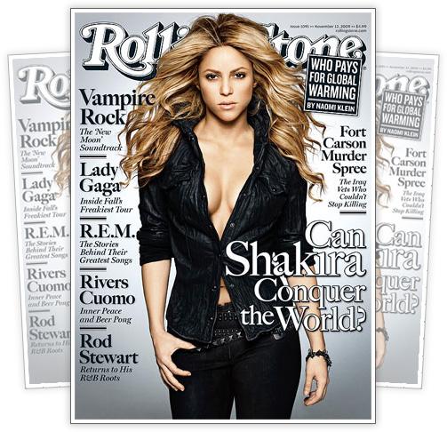 Shakira // November 2009 Rollingstone Magazine