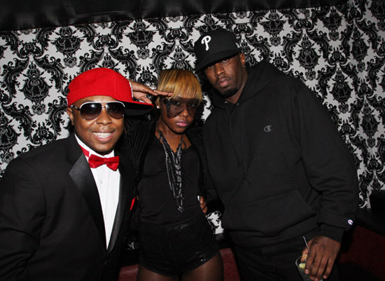 "DJ Webstar, female rapper Young B and Diddy // DJ Webstar's ""Black Diamond"" 23rd Birthday Party"