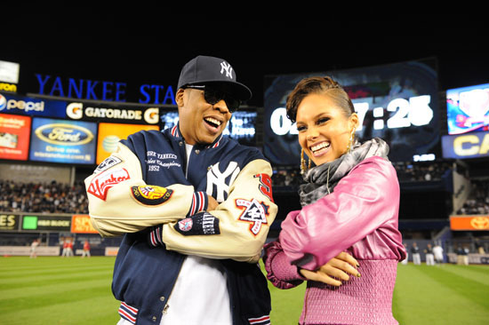 Jay-Z and Alicia Keys // MLB World Series Game 2 Opening Ceremony