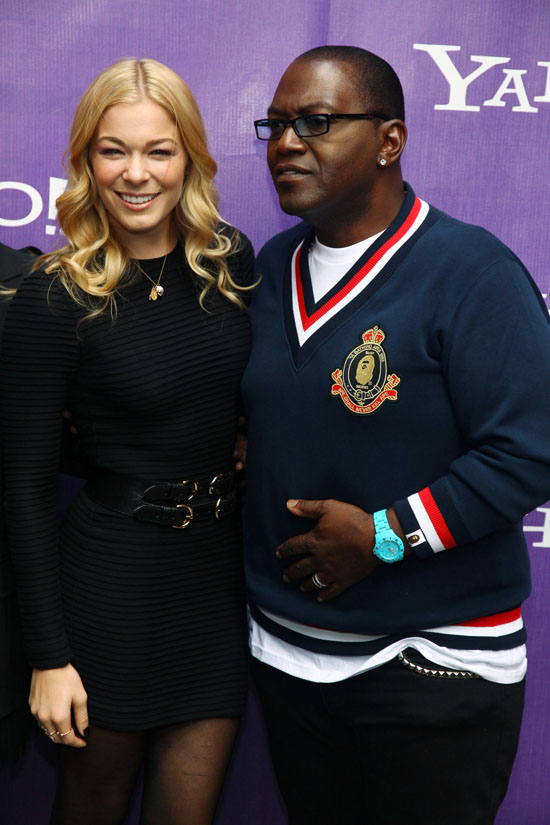 LeAnn Rimes & Randy Jackson // It's Y!ou Yahoo Yodel Competition Kick-Off in NYC