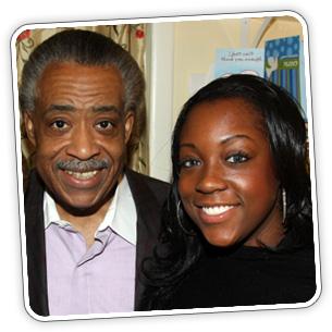 Rev. Al Sharpton and his daughter Dominique
