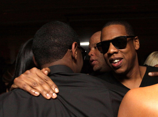Jay-Z and Fabolous // Fabolous' 32nd Birthday Party at the Hotel on Rivington in NYC