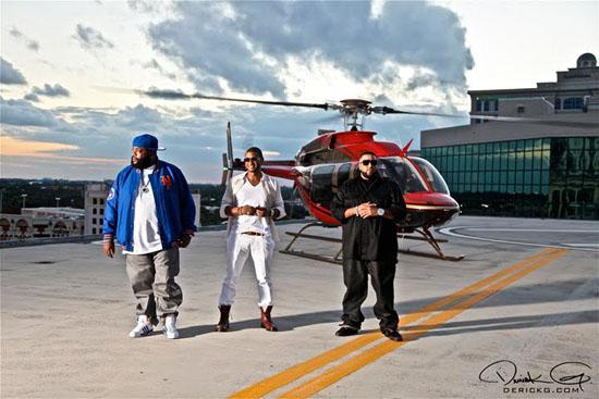"Rick Ross, Usher and DJ Khaled // ""Fed Up"" music video shoot"