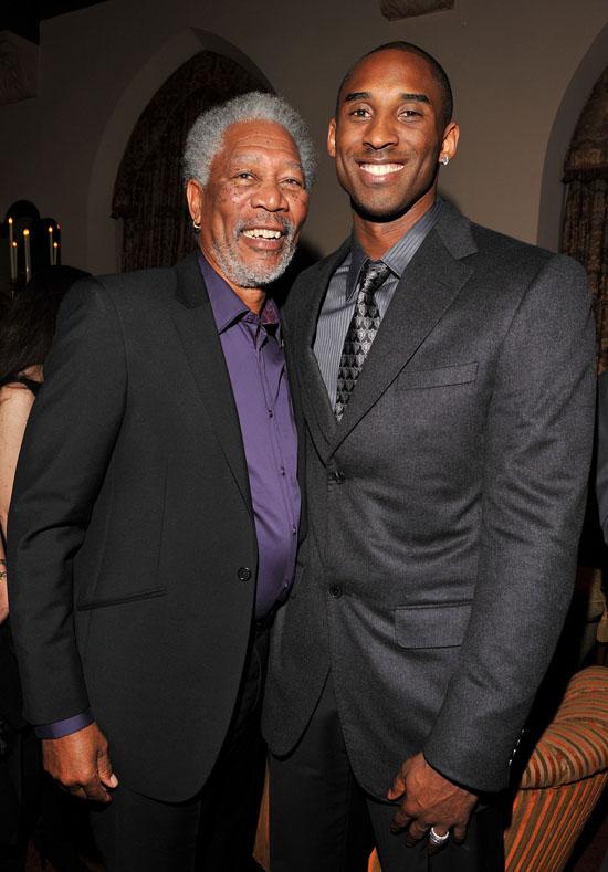 Morgan Freeman and Kobe Bryant