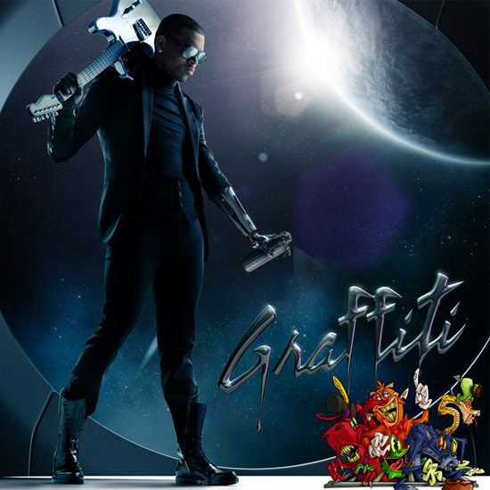 graffiti album cover chris brown