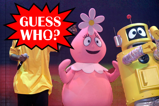 "GUESS WHO?!: Rapper Performing at the ""Yo Gabba Gabba! : There's A Party In My City"" Live Show in Los Angeles"
