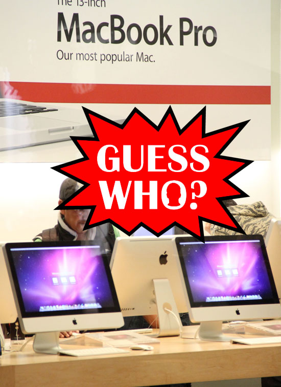 GUESS WHO?!: Out Shopping With the Fam at the Apple Store