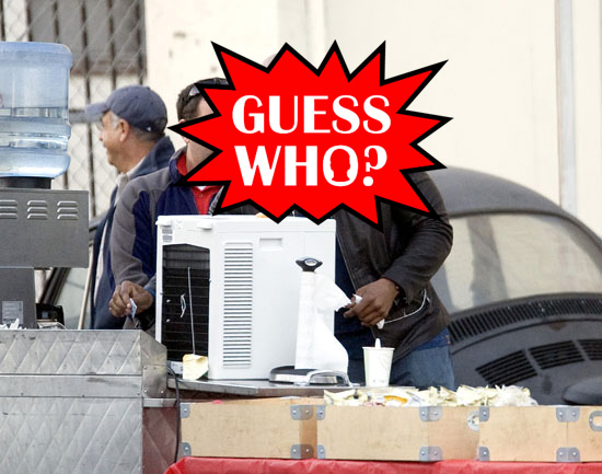 Guess Who?!: Getting Coffee on the Set of His Television Show in LA