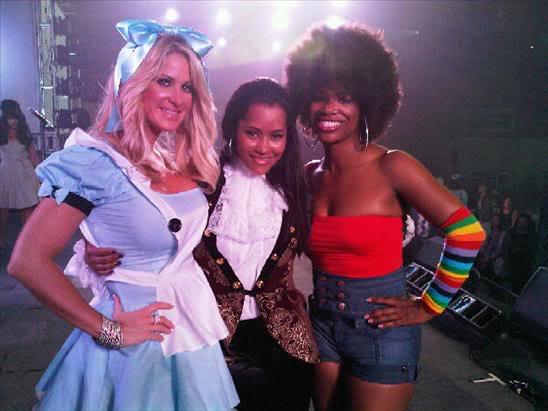Kim Zolciak, Lisa Wu Hartwell and Kandi Burruss (of the Real Housewives of Atlanta) - Halloween 2009
