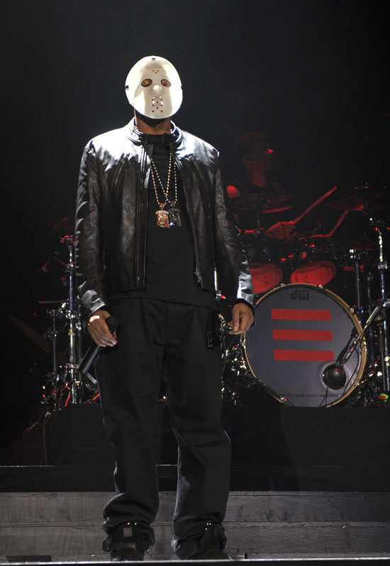 Jay-Z performing in concert for his tour in Canada (Halloween 2009)