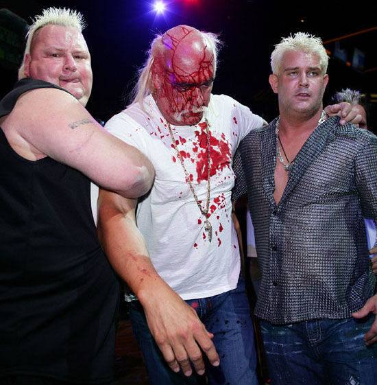 "Hulk Hogan with Brian Knobbs & Brutus Beefcake // ""Hulkamania: Let The Battle Begin"" Press Conference in Sydney, Australia"