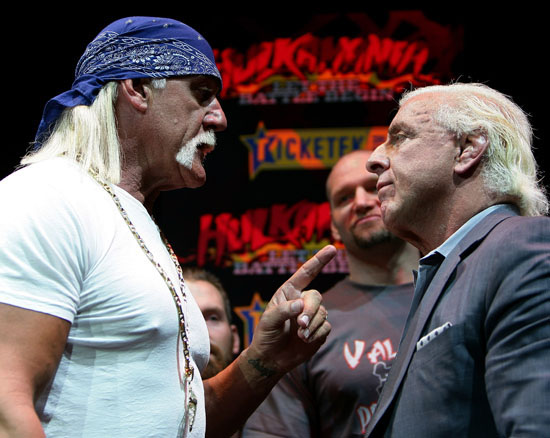 "Hulk Hogan & Ric Flair // ""Hulkamania: Let The Battle Begin"" Press Conference in Sydney, Australia"