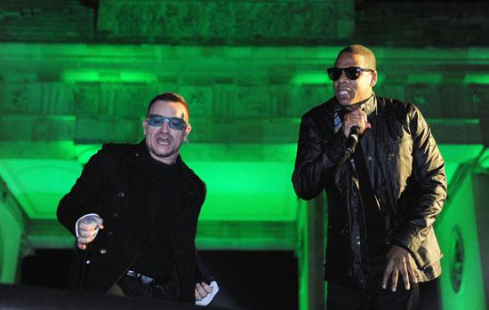Jay-Z & Bono of U2 // 2009 MTV Europe Awards