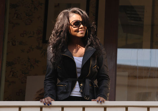 Janet Jackson watches her flash perform at The Grove in Los Angeles - November 14th 2009
