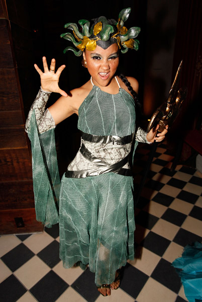 Kat Deluna // Heroes vs. Villains Halloween Party at the Gramercy Park Hotel in New York City