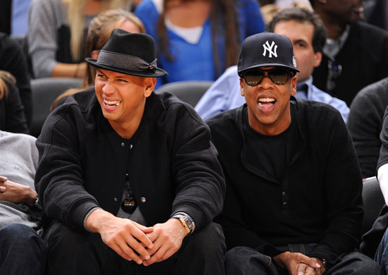 Jay-Z and Alex Rodriguez // New York Knicks vs. Cleveland Cavaliers Basketball Game in NYC