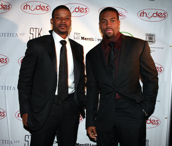 The New York Jets' Kerry Rhodes & Braylon Edwards // The Kerry Rhodes Foundation Black Tie VIP Dinner