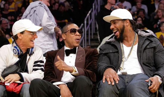 Jimmy Lovine, Jay-Z and Polow Da Don // Los Angeles Lakers vs. Oklahoma City Thunder at the Staples Center - November 22nd 2009