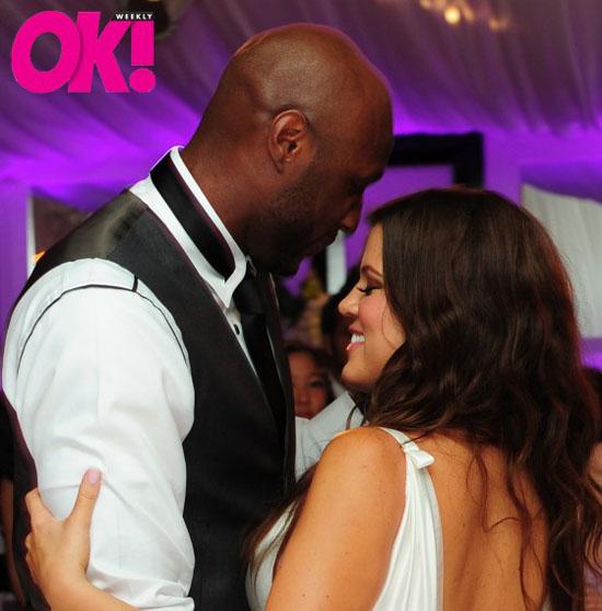 Khloe Kardashian and her husband Lamar Odom