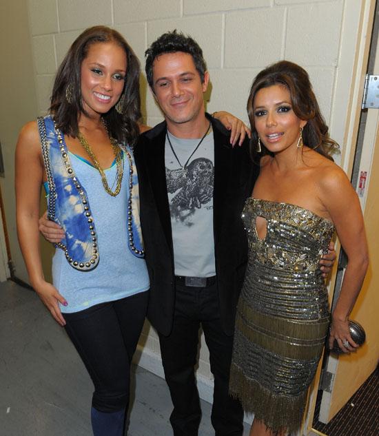 Alcia Keys, Alejandro Sanz and Eva Longoria // 10th Annual Latin Grammy Awards (Backstage)