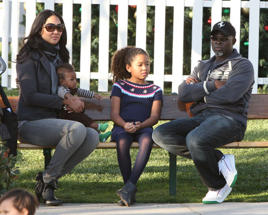 Kimora Lee, Ming and Djimon Hounsou at Cross Creek Park in Malibu, CA (November 22nd 2009)