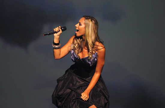 Leona Lewis in concert at the Hackney Empire in London