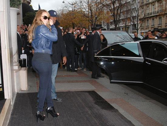 Mariah Carey outside Hotel George V in Paris, France - November 17th 2009