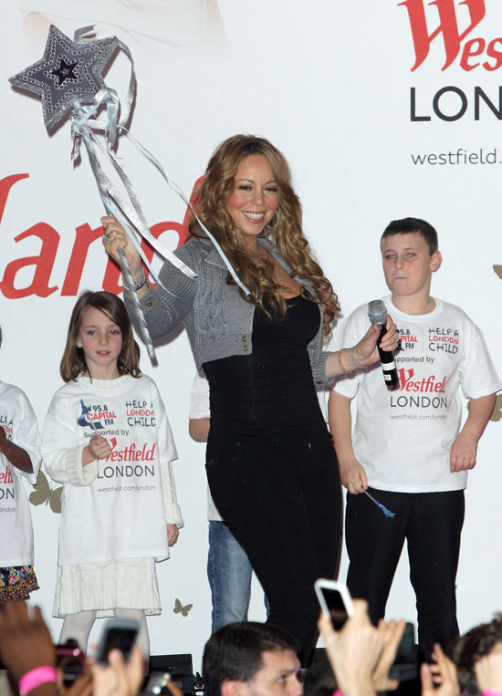 Mariah Carey // Official Christmas Lighting Ceremony at the Westfield Mall in London