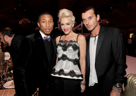 Pharrell Williams, Gwen Stefani & Gavin Rossdale // MOCA New 30th Anniversary Gala