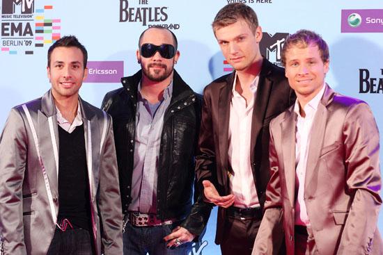 Backstreet Boys (Howie Dorough, Nick Carter, A.J. McLean and Brian Littrell) // 2009 MTV Europe Music Awards